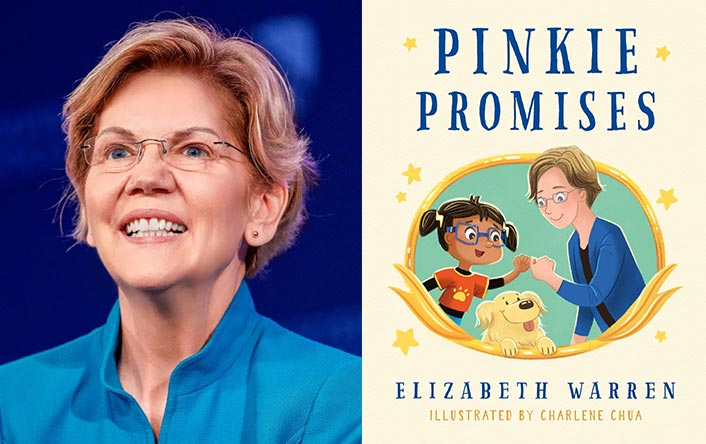 "Keynote Speaker Elizabeth Warren and cover of her upcoming book ""Pinky Promises"""